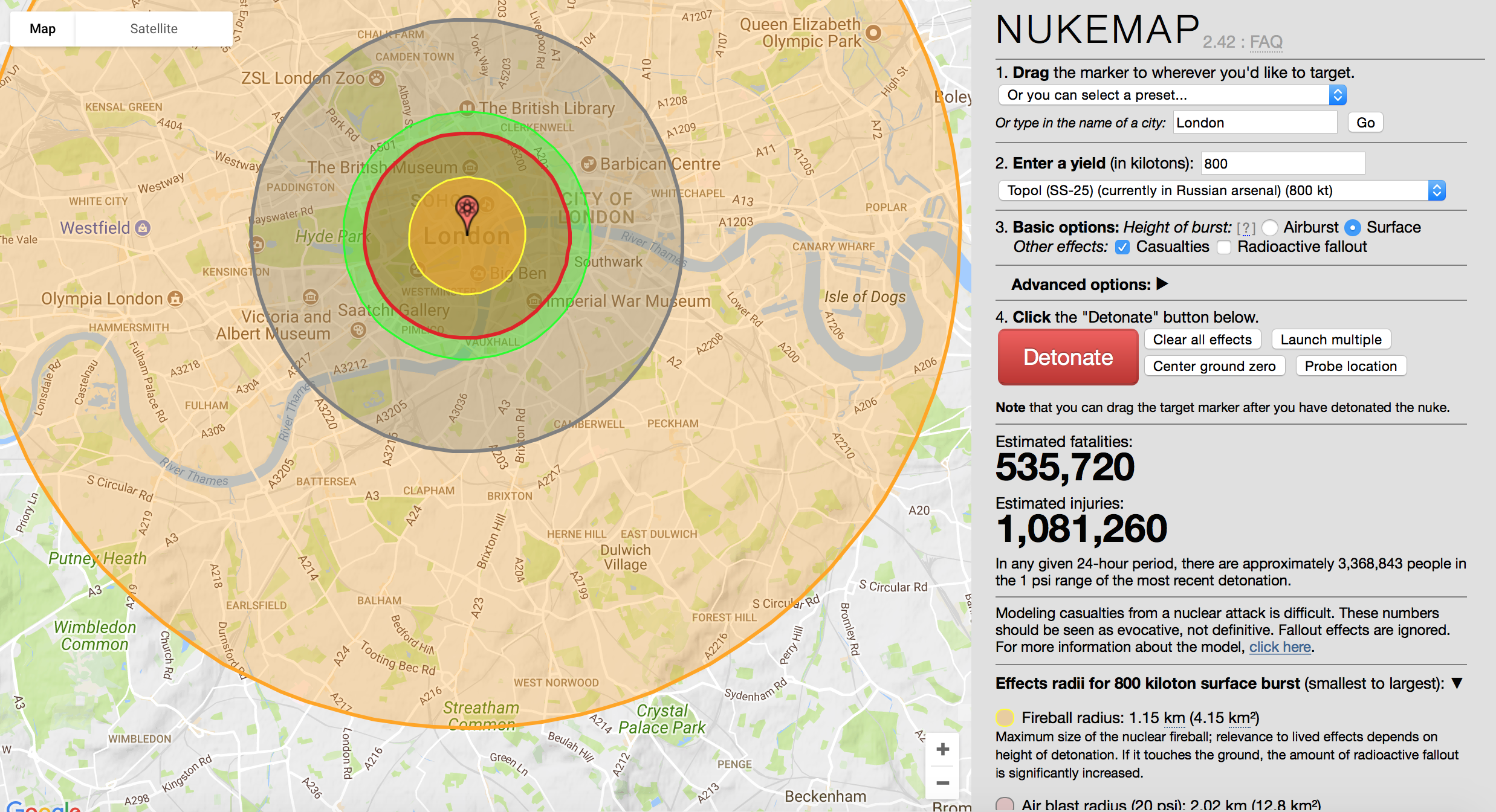 Nuke Map - the data of destruction - data-disruption-and-destruction