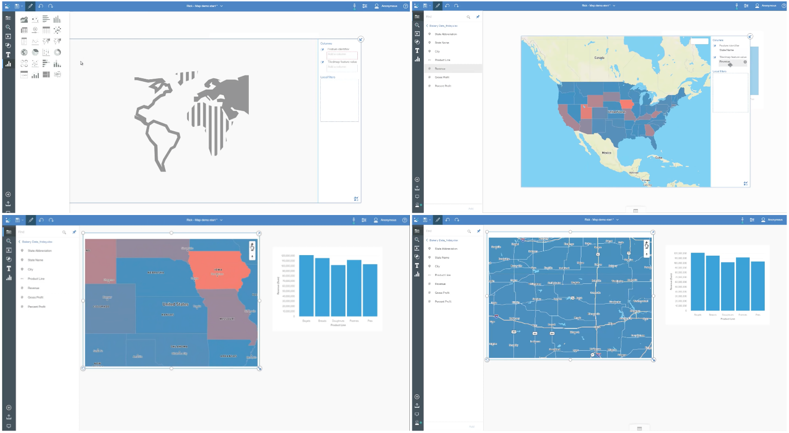 New Mapping in Cognos Analytics v5 RAVE 2 with MapBox integration