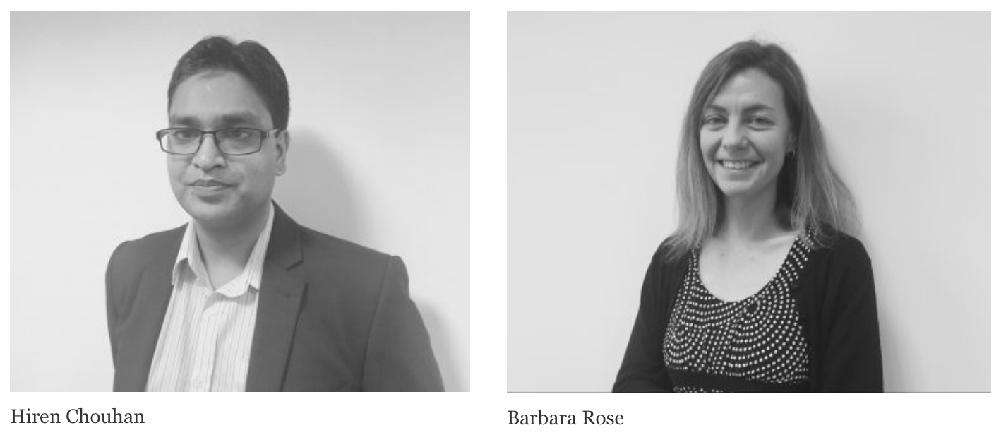 Hiren Chouhan, Business Analyst and Barbara Rose, Business Analytics Consultant
