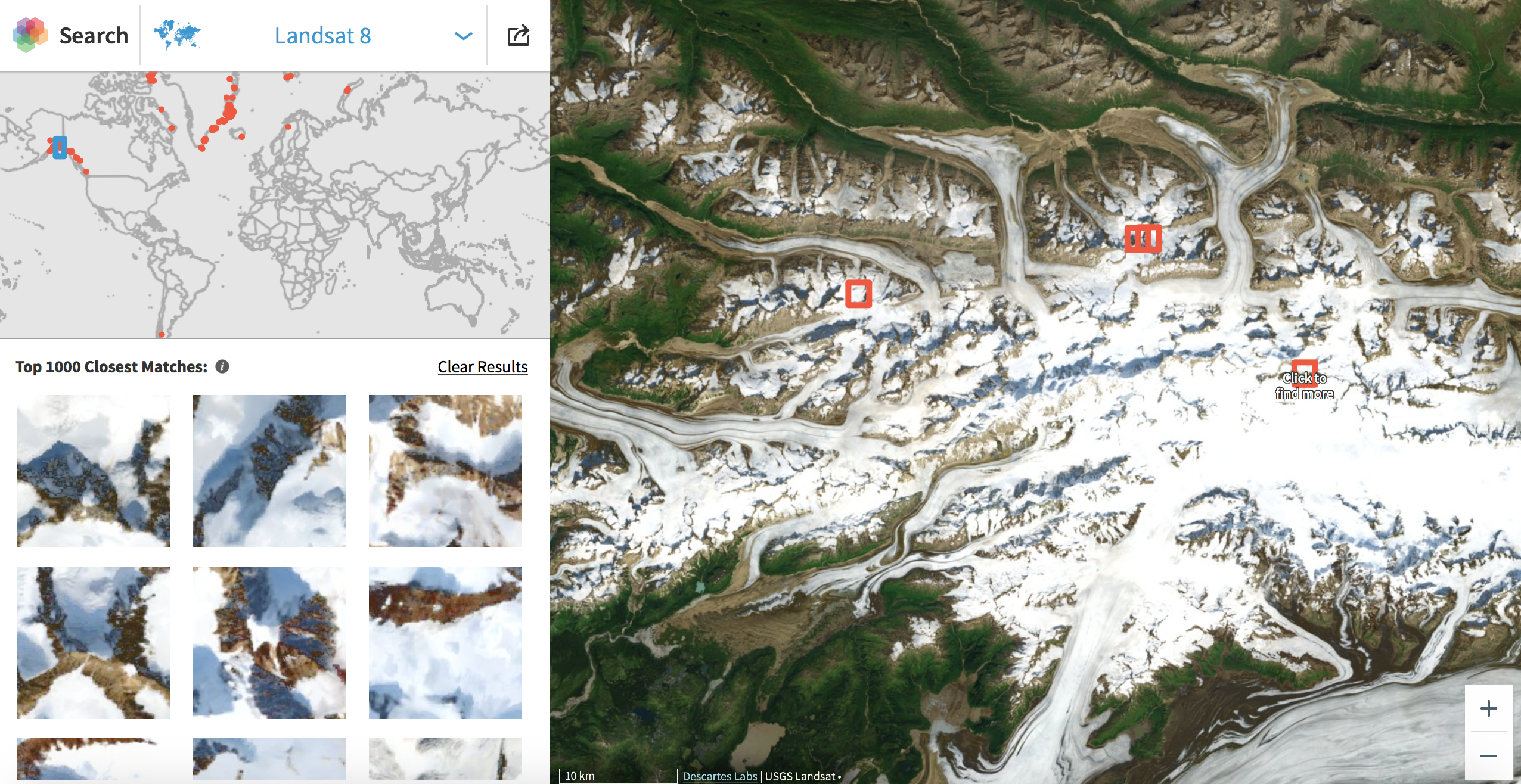 Find the location of just about anything visible on Google Earth