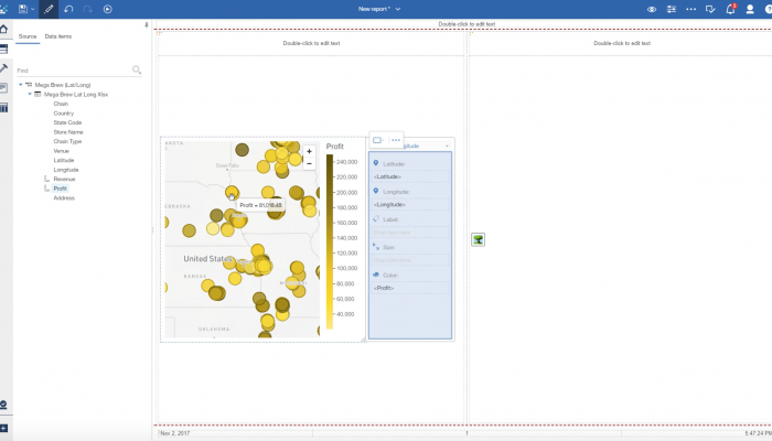 Longitude and Latitude Mapping Cognos Analytics R8