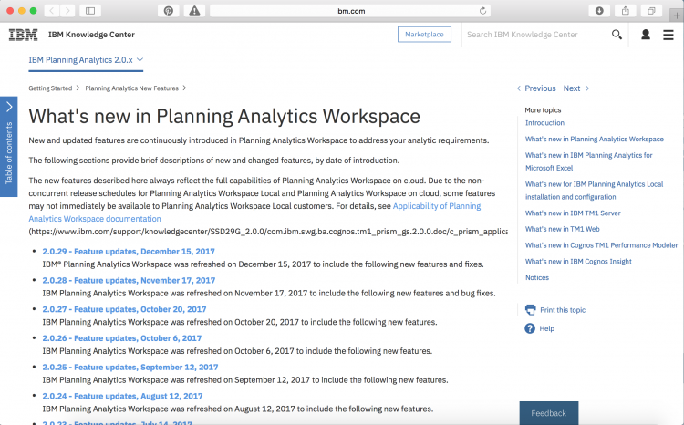 What's new in Planning Analytics