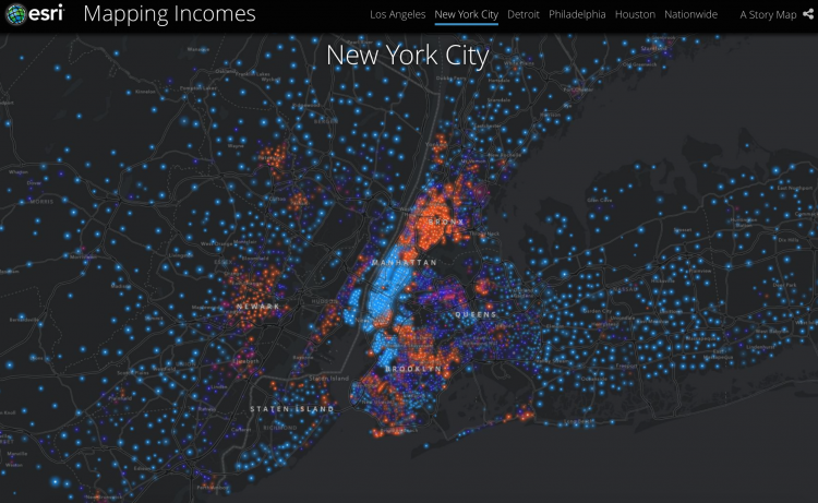 Mapping Income disparities