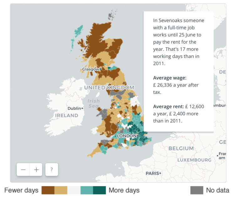 Every penny, every day till May - the cost of rent in the UK