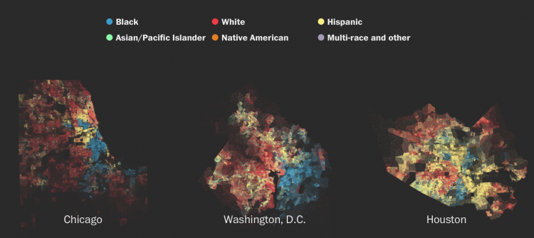 Mapping diversity and segregation across the USA