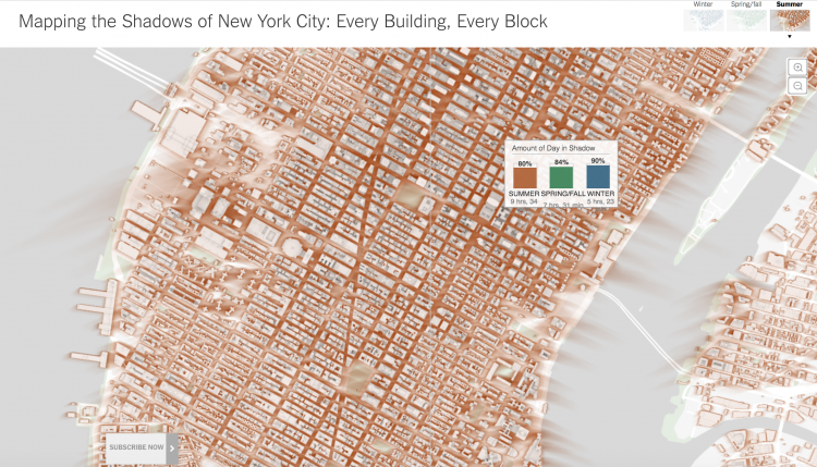 Mapping the shadows of New York City