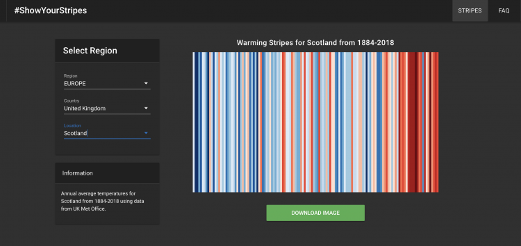Temperature data - show your stripes
